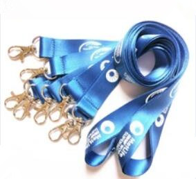 Custom Printing Logo ID Card Sublimation Neck Polyster Ribbon Lanyard